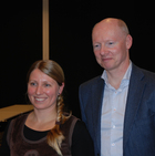 From the ceremony:<br> Guro E. Lind and Harald A. Stenmark (photo Chema Bassols)