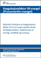 Forside diagnosefolder Faktor VII-mangel (Proconvertinmangel)