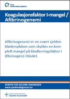 Forside diagnosefolder Faktor I-mangel (Afibrinogenemi)
