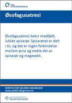Forside diagnosefolder �sofagusatresi