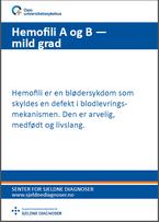 Forside - diagnosefolder hemofili A og B, mild grad