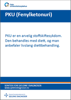 Forside diagnosefolder PKU (Fenylketonuri)
