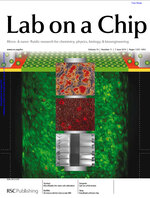 """Cover of \""""Lab on a Chip\"""", June 7 issue. Click to enlarge image."""