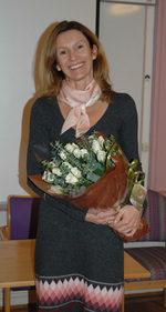 Anne Simonsen at the ceremony Nov 22nd