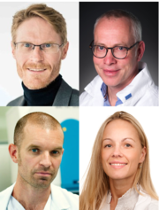 OUS scientists involved: Inge C. Olsen and Andreas Barratt-Due (top), Marius Trøseid and Victoria C. Simensen (bottom)