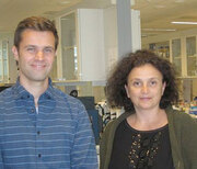 Post doc Thomas Fleischer and professor Vessela N. Kristensen