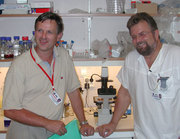 Erlend B. Smeland (left) and Stein Kval�y.