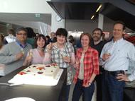Tumor Biology scientists celebrating