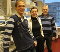 R.A. Lothe with coworkers R.I. Skotheim (left) and A. Nesbakken