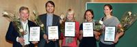Five of the award winners