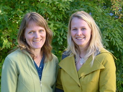 Researcher Be�ta Grallert (left) and research fellow Tonje Tveg�rd (click to enlarge image)
