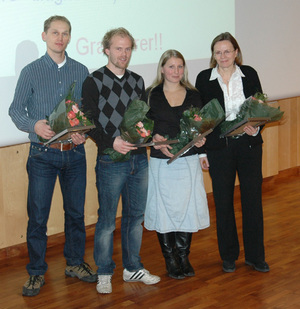From left: Rolf I. Skotheim, Terje Ahlquist, Guro E. Lind and Ragnhild Lothe. (click to enlarge image)