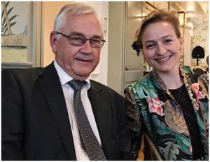 Tuva Høst Brunsell with main supervisor Arild Nesbakken.