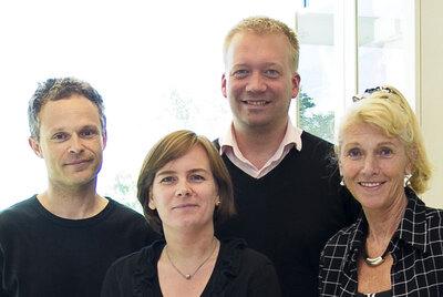 From left: Ole Christian Lingjærde, Hege G. Russnes, Hans Kristian Moen Vollan and Anne-Lise Børresen-Dale