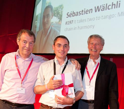 From left: Cornelis Melief, Sebastien W�lchli and Christoph Huber (President of CIMT).