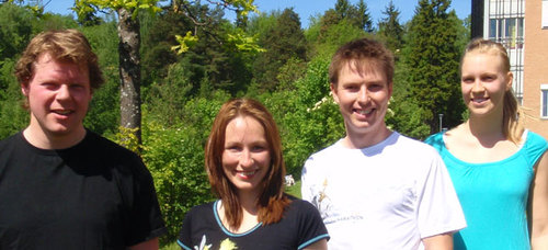 From left: Gaute Nesse, Elisabeth Larsen, Rune Ougland and Sabrina Gruber (click to enlarge image)
